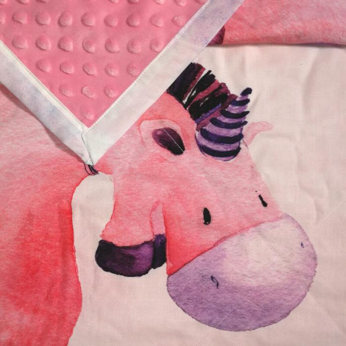 SLEEP WELL Paturica Panel Unicornul cu baloane