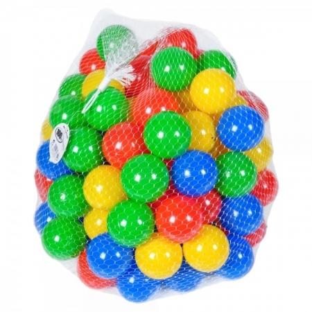 Sac 100 bile multicolore pentru copii