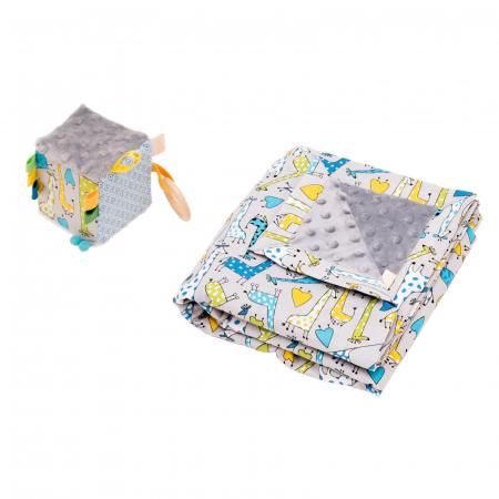 Cub textil BABY – Girafele colorate