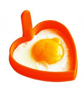 Forma din silicon pentru oua ochiuri - inimioara.