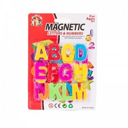 Pachet26 litere mari, de tipar -magnetice, din plastic.