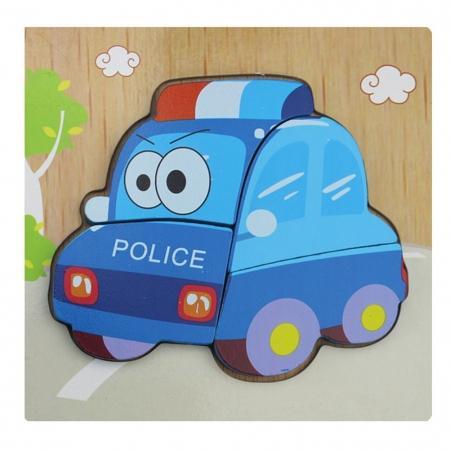 Puzzle Lemn 3D Masina de politie