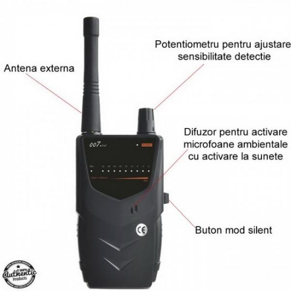 BHS Top 007 Mini – 5.2 Ghz - Detector pentru Camere si Microfoane Spion cu Scanare Manuala 0