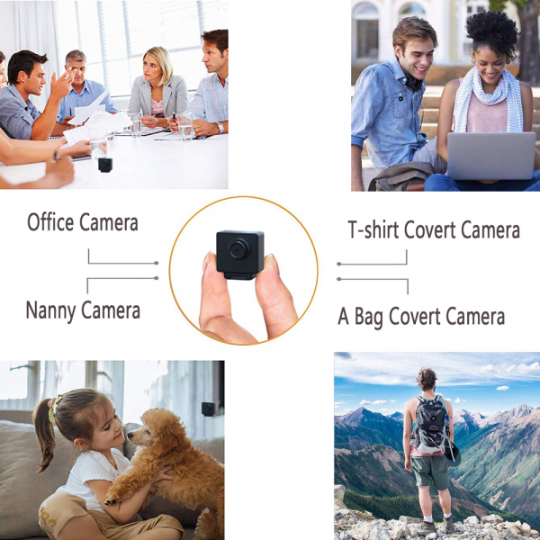 Camera Video Spy Portabila cu Rezolutie FULL HD, 128GB, Alimentare Permanenta 8