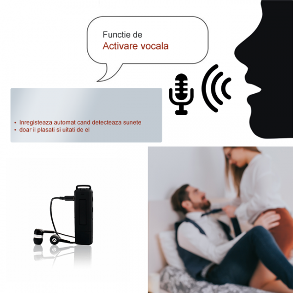 Stick USB de Memorie Spion cu Inregistrare 384kbps, Functie de Activare Vocala, Memorie Interna 8Gb - 564 de ore - Model Profesional 4
