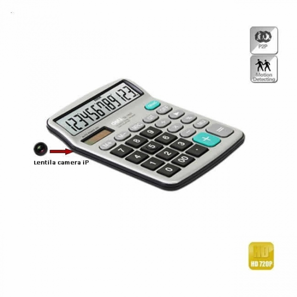 Camera spy wi-fi ip p2p camuflata in calculator de birou , 720p  - Model CBCVDCSWIP22