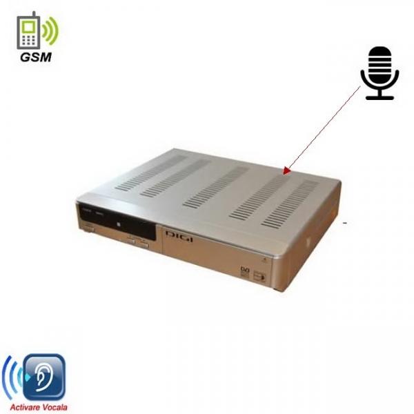 Microfon GSM Spion Incorporat in Decodor TVcu Activare Vocala si Alimentare Permanenta 0