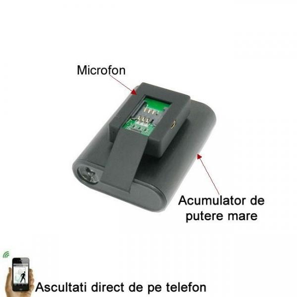 Microfon Gsm Spion cu Extra-Baterie pentru 30 de Zile Autonomie - Foarte Apreciat 1