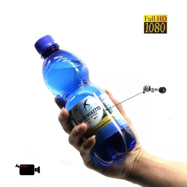 Minicamera Video Spy DVR Integrata in Sticla de Apa 500ml, Rezolutie Full Hd 1920x1080p, 32Gb 0