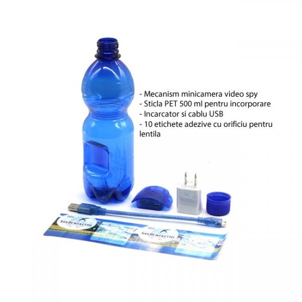 Minicamera Video Spy DVR Integrata in Sticla de Apa 500ml, Rezolutie Full Hd 1920x1080p, 32Gb 2
