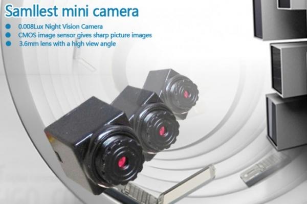 Camera CCTV de Supraveghere Spion 90 Grade, Sunet, 520 TVL CCCTVMINI903EE 5