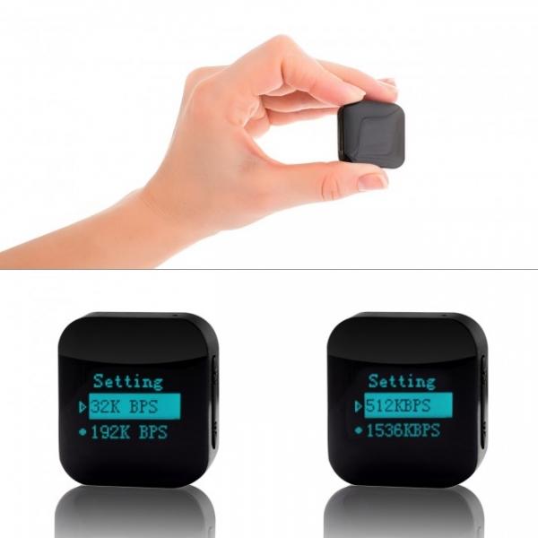 Mini Reportofon Activare Vocala si Parola De Protectie - -24 de ore Baterie - 4GB- 286 de ore - 1536 kbps, Model Profesional aTTo 4GB 7