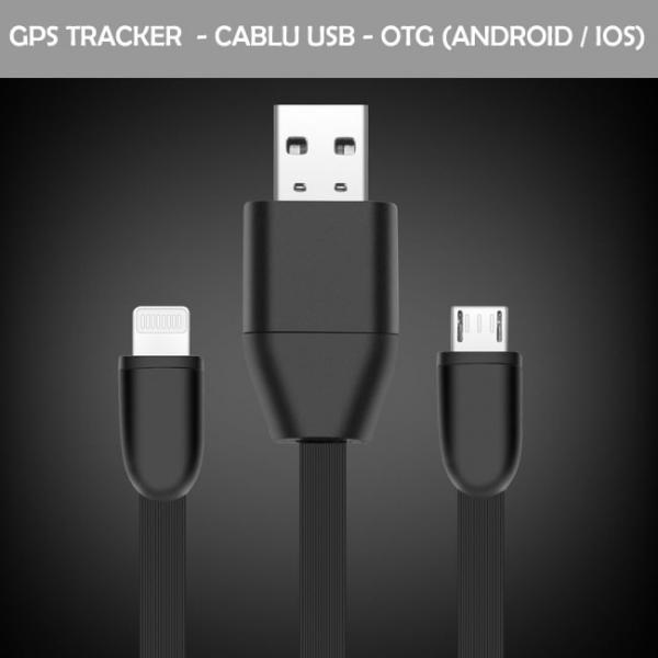 Cablu USB Pentru  Telefon (Android/IOS ) cu GPS TRACKER  si  Microfon GSM cu Activare Vocala TRACK-USB-9 0