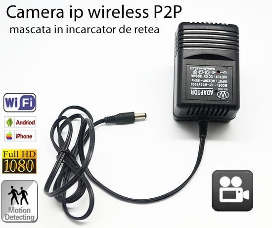 Camera Video Spy DVR + WI-FI IP P2P Mascata in Incarcator de Priza , 32 GB, 1080p, IPCCSIPWIFI78, Alimentare Continua 0