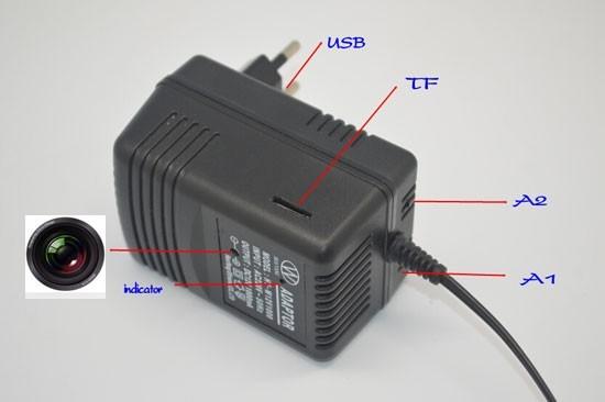Camera Video Spy DVR + WI-FI IP P2P Mascata in Incarcator de Priza , 32 GB, 1080p, IPCCSIPWIFI78, Alimentare Continua 1