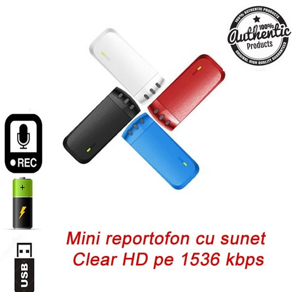 Reportofon Spy 8 GB cu Clip de Prindere la Curea – Sunet Super Clar pe 1536Kbps 0