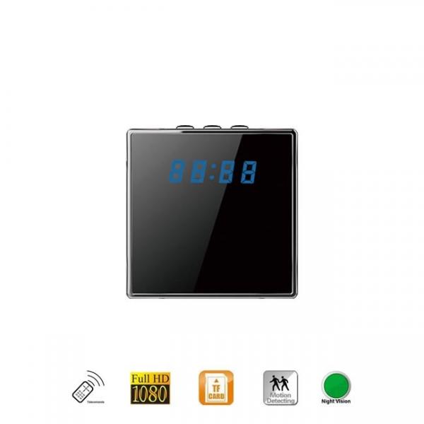 Micro camera video cu nightvision camuflata in ceas de birou DVR cu senzor de miscare 1