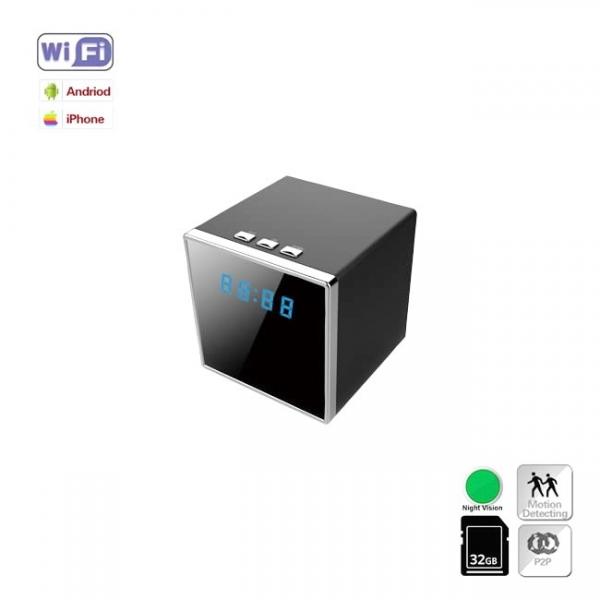 Camera Video Spy IP Wi-Fi Camuflata in Ceas de Birou Cubic, 1920x1080p, Senzor de Miscare 0