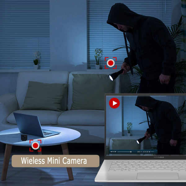Camera Video Spy Portabila cu Rezolutie FULL HD, 128GB, Alimentare Permanenta 7