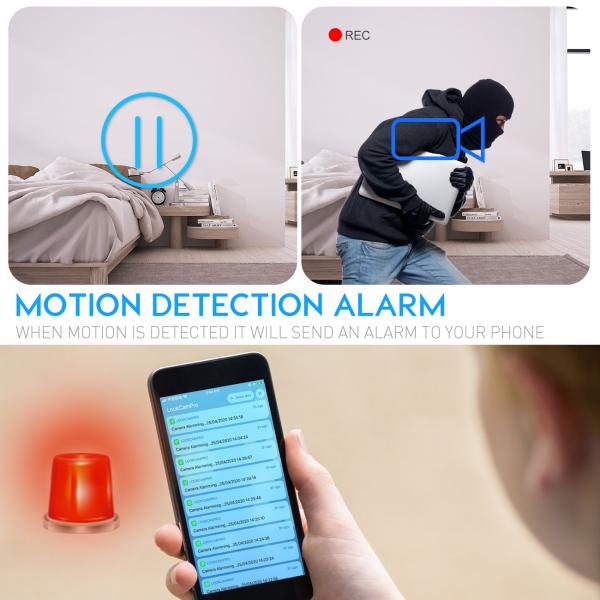 Camera Video Spion, IP WI-FI Integrata in Ceas de Birou, Night Vision, Rezolutie 4K, 128GB, P2P, Senzor de Miscare 2