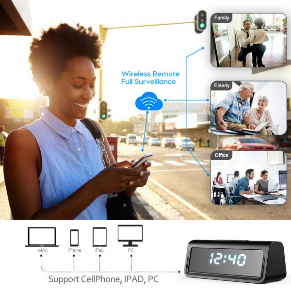 Camera Video Spion, IP WI-FI Integrata in Ceas de Birou, Night Vision, Rezolutie 4K, 128GB, P2P, Senzor de Miscare 7