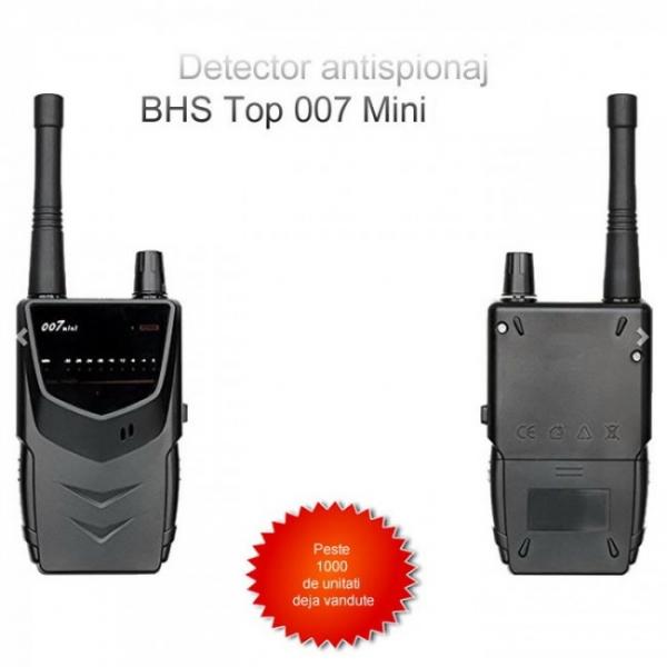 BHS Top 007 Mini – 5.2 Ghz - Detector pentru Camere si Microfoane Spion cu Scanare Manuala 3