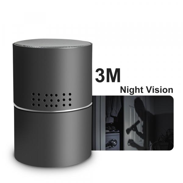 Boxă Bluetooth cu Cameră Video Spy, WI-FI, IP, P2P+DVR, Senzor de Mișcare, Lentilă Rotativă 330 de Grade 2