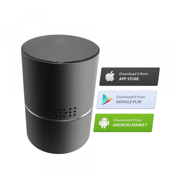 Boxă Bluetooth cu Cameră Video Spy, WI-FI, IP, P2P+DVR, Senzor de Mișcare, Lentilă Rotativă 330 de Grade 4