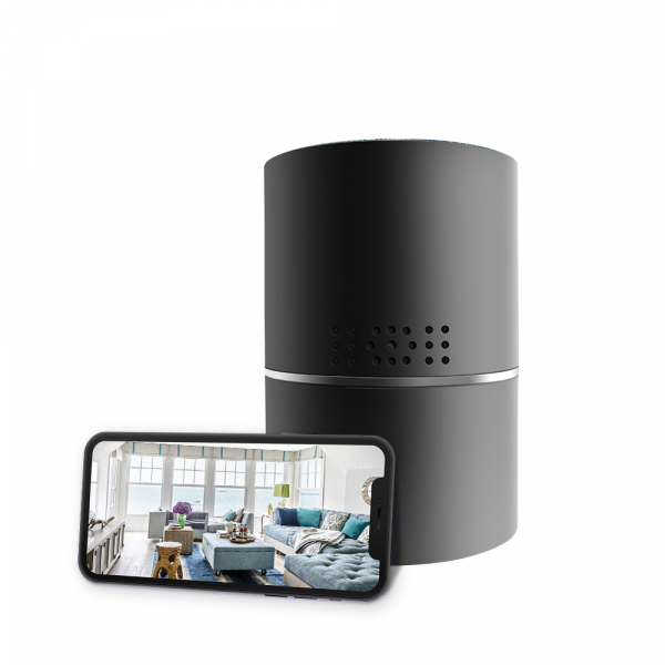 Boxă Bluetooth cu Cameră Video Spy, WI-FI, IP, P2P+DVR, Senzor de Mișcare, Lentilă Rotativă 330 de Grade 5