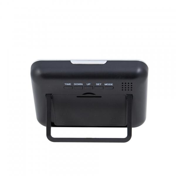 Cameră Spion HD de 5MP Ascunsă în Ceas de Birou | Senzor de Mișcare | Reportofon | Suportă Card MicroSD de 32GB | Telecomandă | JSCM089 4