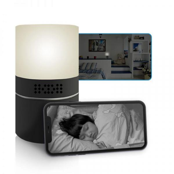 Cameră Video Spy Ascunsă în Lampă de Veghe, Rezoluție Full HD, Capacitate Stocare 128GB, Activare la Mișcare 1