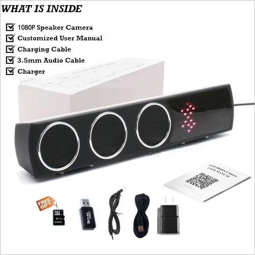 Boxă  Bluetooth Cameră Spion cu Filmare pe Timp de Noapte, Wi-Fi, IP, P2P, Rezoluție Video 4K 1
