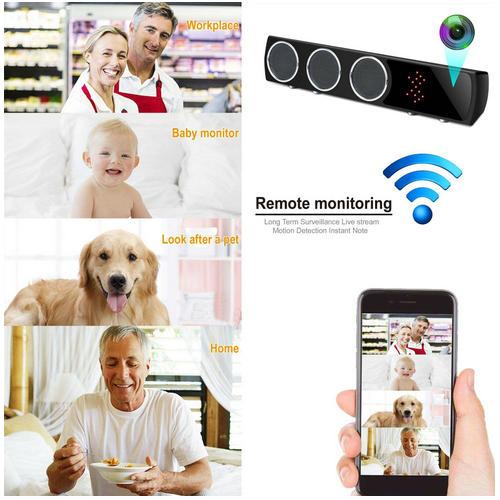 Boxă  Bluetooth Cameră Spion cu Filmare pe Timp de Noapte, Wi-Fi, IP, P2P, Rezoluție Video 4K 4