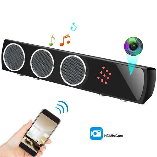 Boxă  Bluetooth Cameră Spion cu Filmare pe Timp de Noapte, Wi-Fi, IP, P2P, Rezoluție Video 4K 0