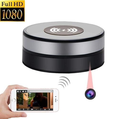 Încărcător Wireless cu Cameră Video Spy, Wi-Fi, Ip, P2P, Rezoluție 1920x1080p, Senzor de Mișcare, Lentilă 160 de Grade, 128GB 1