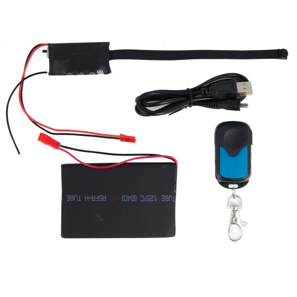 Cameră Video Spion Modul Integrabil | 8mm -12 ore - 32GB | Senzor de Mișcare și Telecomandă | MCS8MM32GB 3