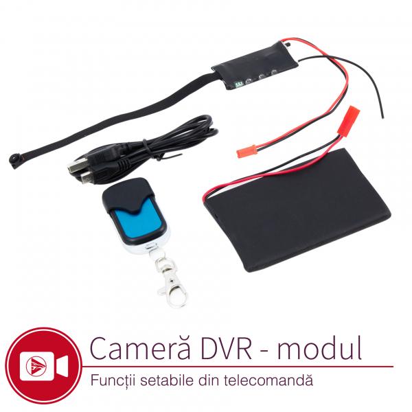 Cameră Video Spion Modul Integrabil | 8mm -12 ore - 32GB | Senzor de Mișcare și Telecomandă | MCS8MM32GB 1