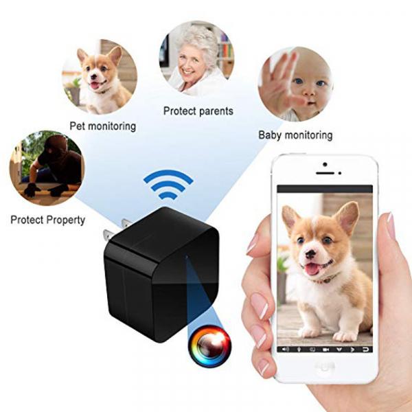 Camera Video Spy cu Rezolutie VGA Aascunsa in Incarcator USB, WIFI, Ip, p2p, DVR, 128 GB, Alimentare Permanenta 1