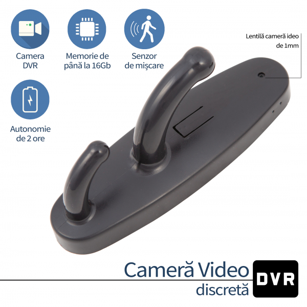 Camera Video Spy cu Rezolutie 640x480p Integrata in Cuier - Model CCS055 0