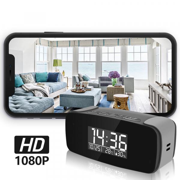 Cameră Video Spion WI-FI, IP, DVR în Ceas de Birou cu Vizualizare în Timp Real, Rezoluție FULL HD, Senzor de Mișcare, Night Vision, 128GB 4