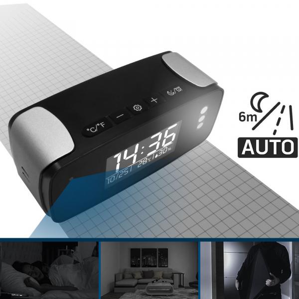 Cameră Video Spion WI-FI, IP, DVR în Ceas de Birou cu Vizualizare în Timp Real, Rezoluție FULL HD, Senzor de Mișcare, Night Vision, 128GB 5