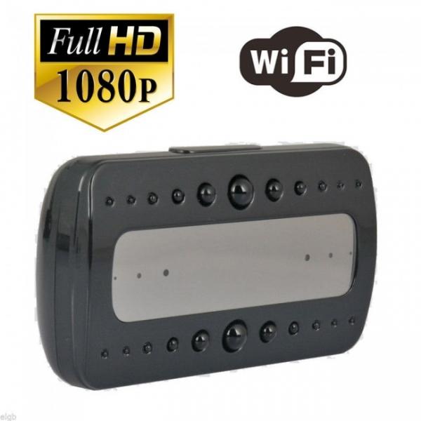 Ceas birou-microcamera video WI-FI IP P2P pentru spionaj discret, 32 Gb, HD 0