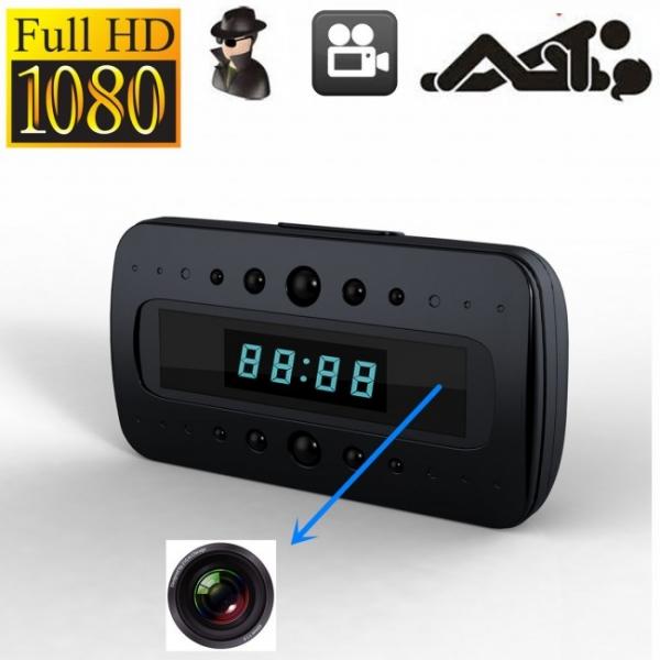 Ceas birou-microcamera video WI-FI IP P2P pentru spionaj discret, 32 Gb, HD 1