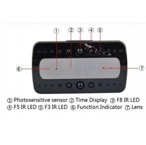Ceas birou-microcamera video WI-FI IP P2P pentru spionaj discret, 32 Gb, HD 2