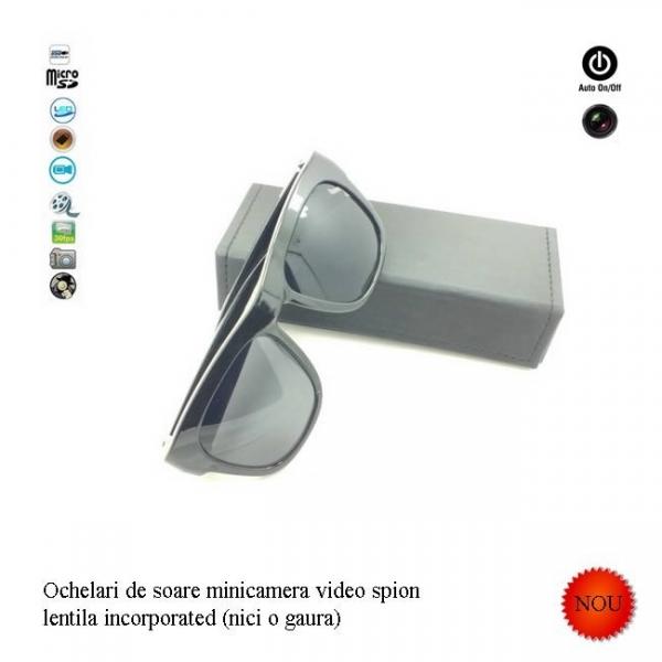 Minicamera video spy camuflata in ochelari de soare, card microSD 32Gb 1