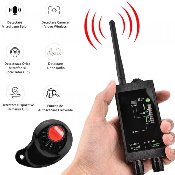 Detector Ultraprofesional de camere, microfoane, localizatoare spy si telefoane mobile, 12Ghz, MAXPROTECT10 [3]