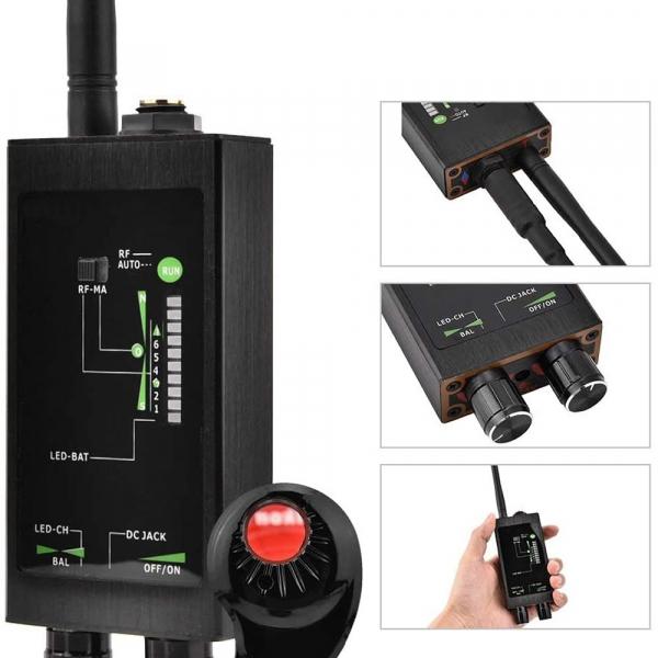 Detector Ultraprofesional de camere, microfoane, localizatoare spy si telefoane mobile, 12Ghz, MAXPROTECT10 [4]