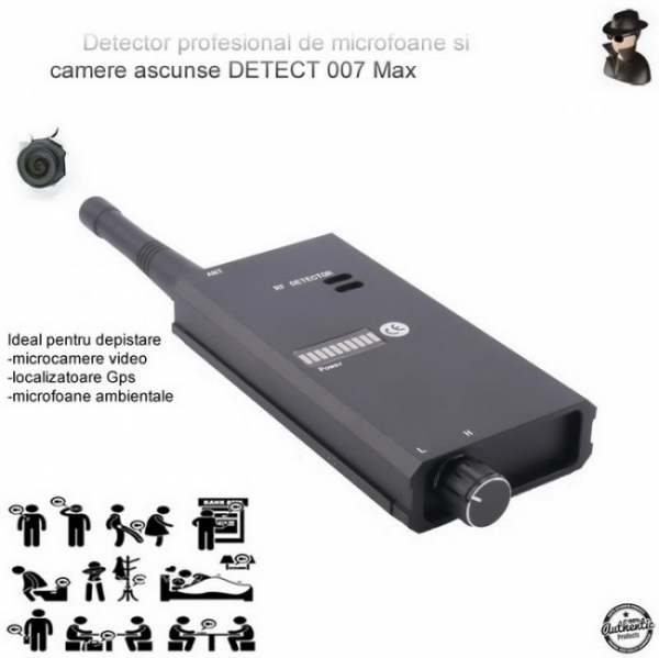 Detector Profesional de Microfoane si Camere Spion Detect 007 MAX 8 GHz, Bonus Husa Antiascultare 2