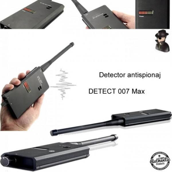 Detector Profesional de Microfoane si Camere Spion Detect 007 MAX 8 GHz, Bonus Husa Antiascultare 0