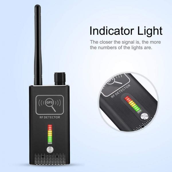 Detector Ultraprofesional de Camere Video Spion, Microfoane si Localizatoare GPS, 8.7 GHz, MAXPROTECT08, Husa Antiascultare Bonus 1